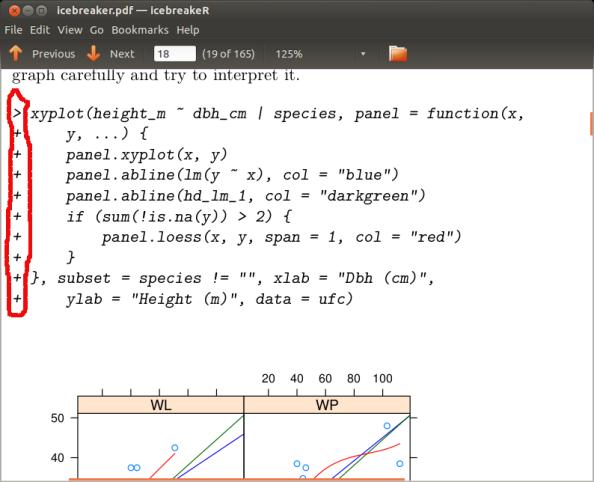 PDF con código